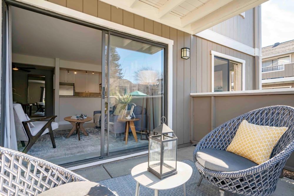 Private Patio at Apartments in San Jose, California