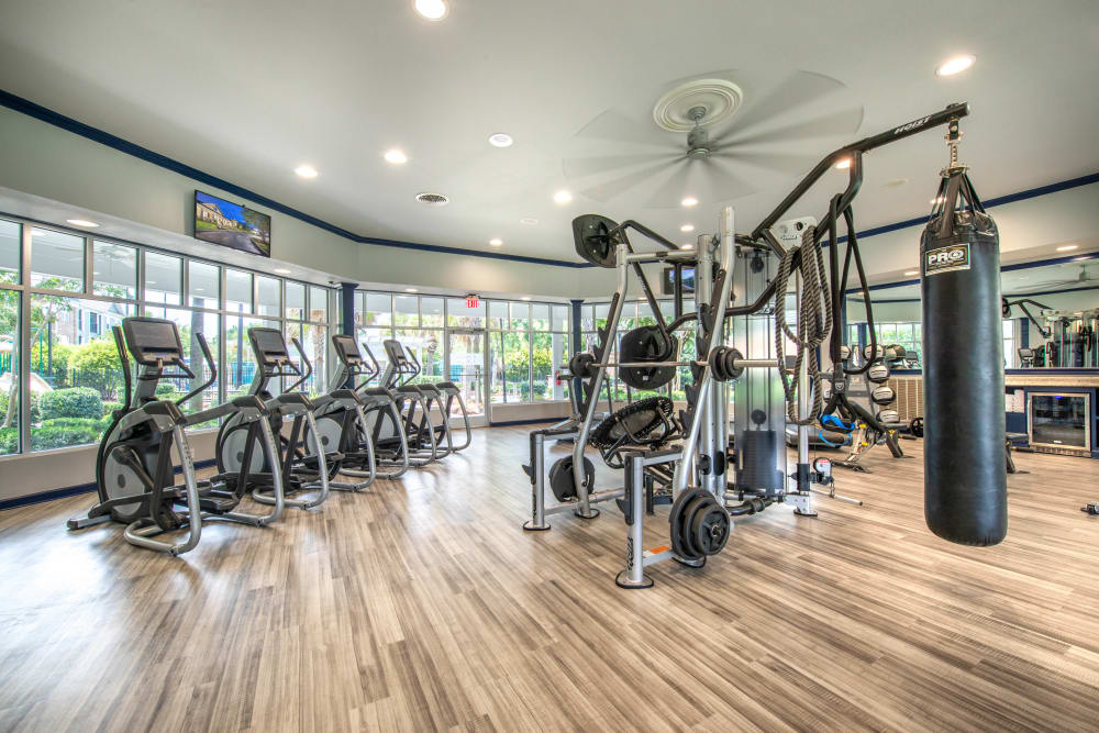 Very well-equipped fitness center at Olympus Carrington in Pooler, Georgia