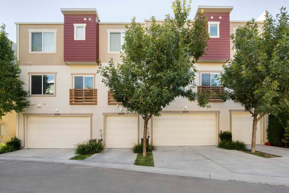 Garages available at Olympus at the District in South Jordan, Utah