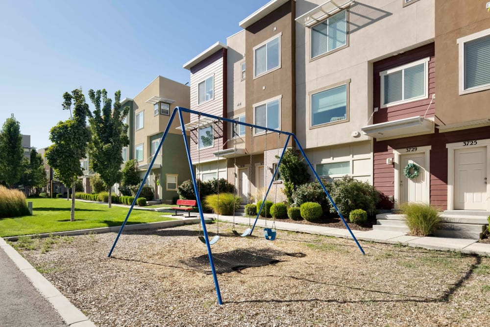 Playground for kids at Olympus at the District in South Jordan, Utah
