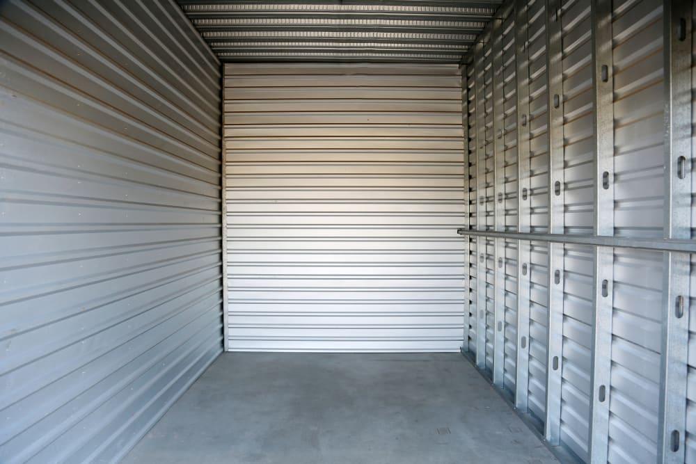 A view inside a storage unit in Colorado Springs, Colorado at Storage 365