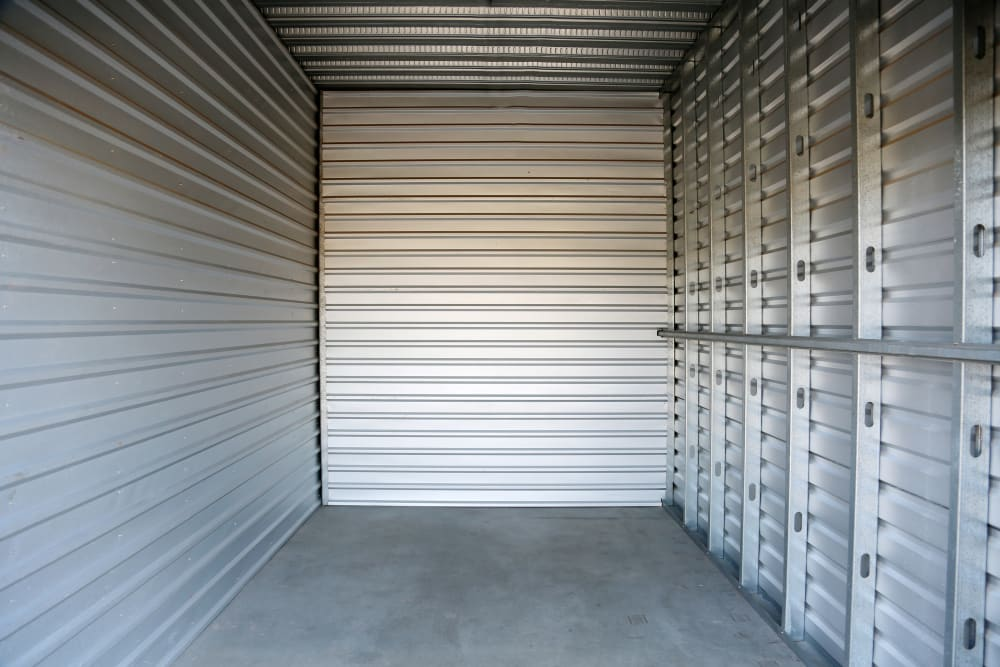 A view inside a storage unit in Euless, Texas at Storage 365