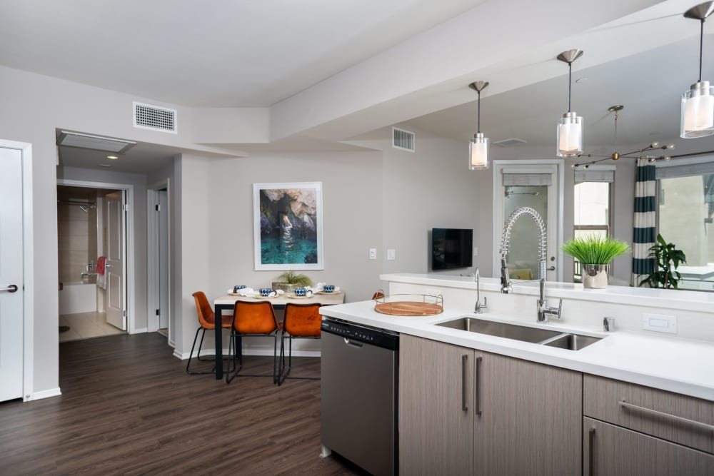 Spacious kitchen at Olympus Corsair in San Diego, California