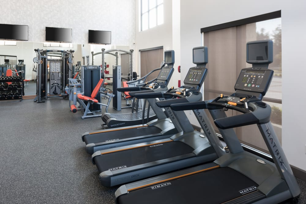 High-quality treadmills for workouts at Olympus Auburn Lakes in Spring, Texas