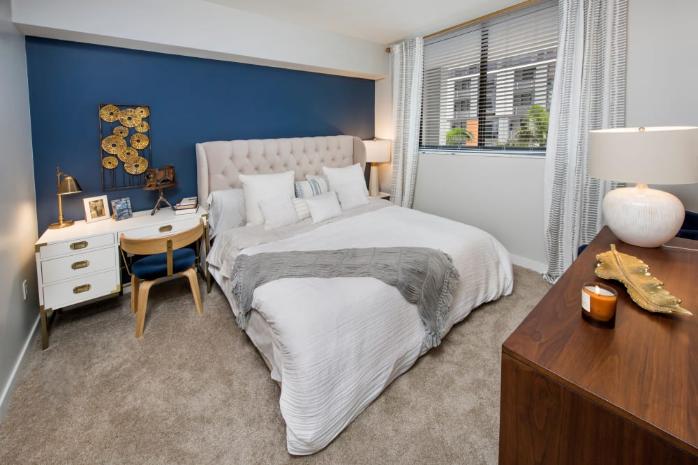 Master bedroom at The Flats in Doral, Florida