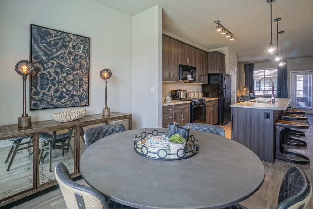 Beautifully decorated open-concept townhome at Olympus Northpoint in Albuquerque, New Mexico