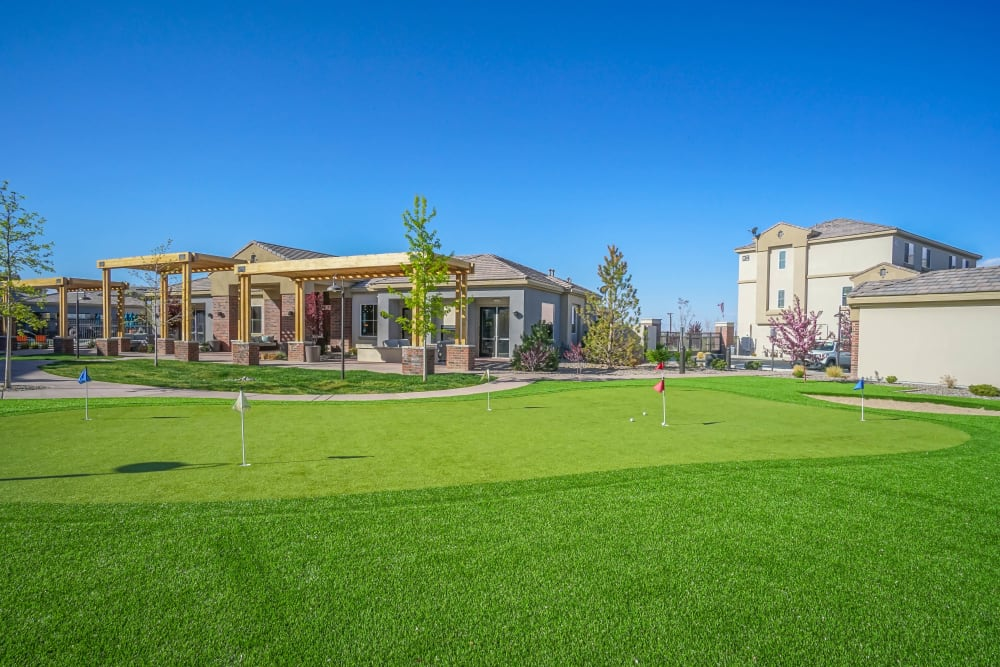 Putting green at Olympus Northpoint in Albuquerque, New Mexico