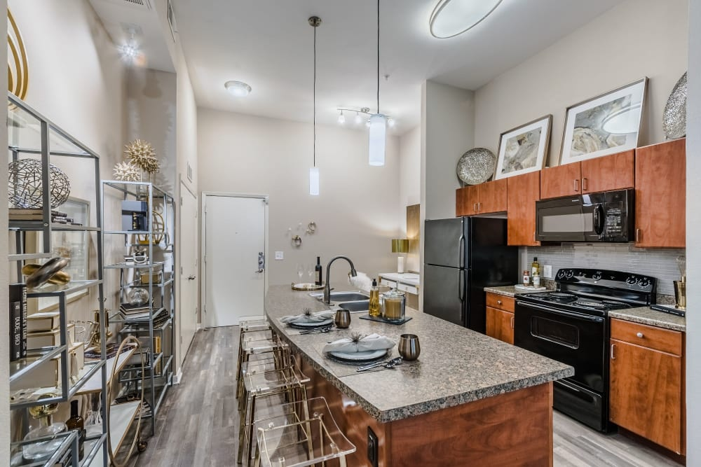 Spacious kitchen at Olympus Boulevard in Frisco, Texas