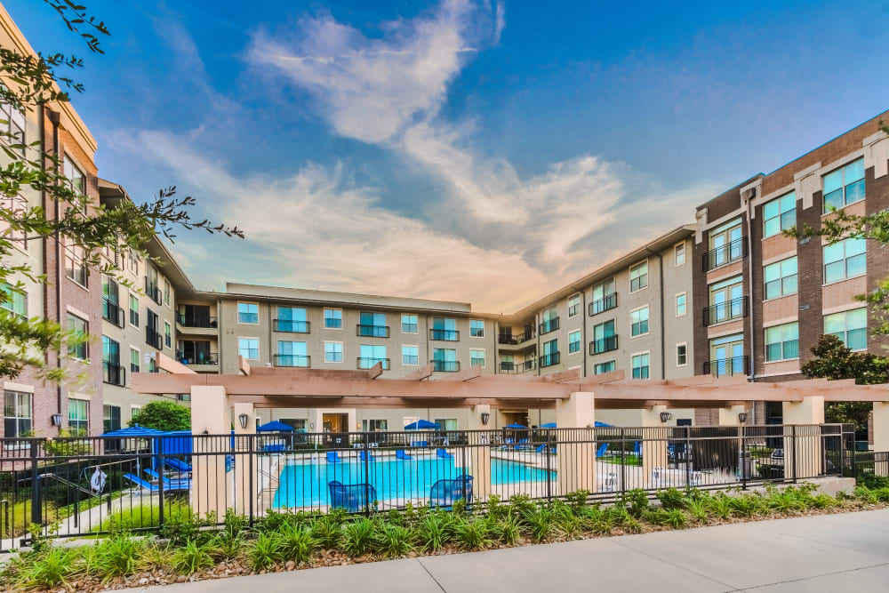 Resort-style pool and community at Olympus Boulevard in Frisco, Texas
