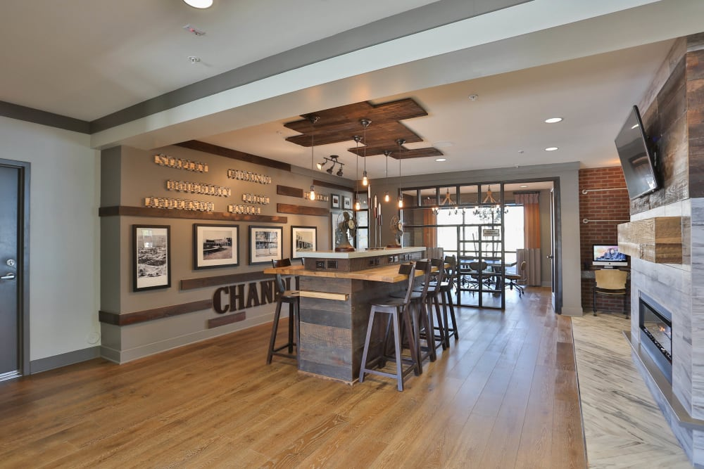 Great places to get to know your neighbors in the clubhouse at Olympus Steelyard in Chandler, Arizona