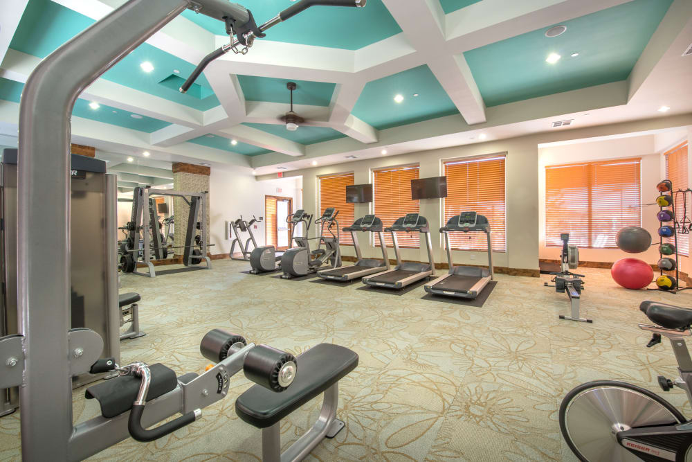 High end gym at Olympus Encantada in Albuquerque, New Mexico