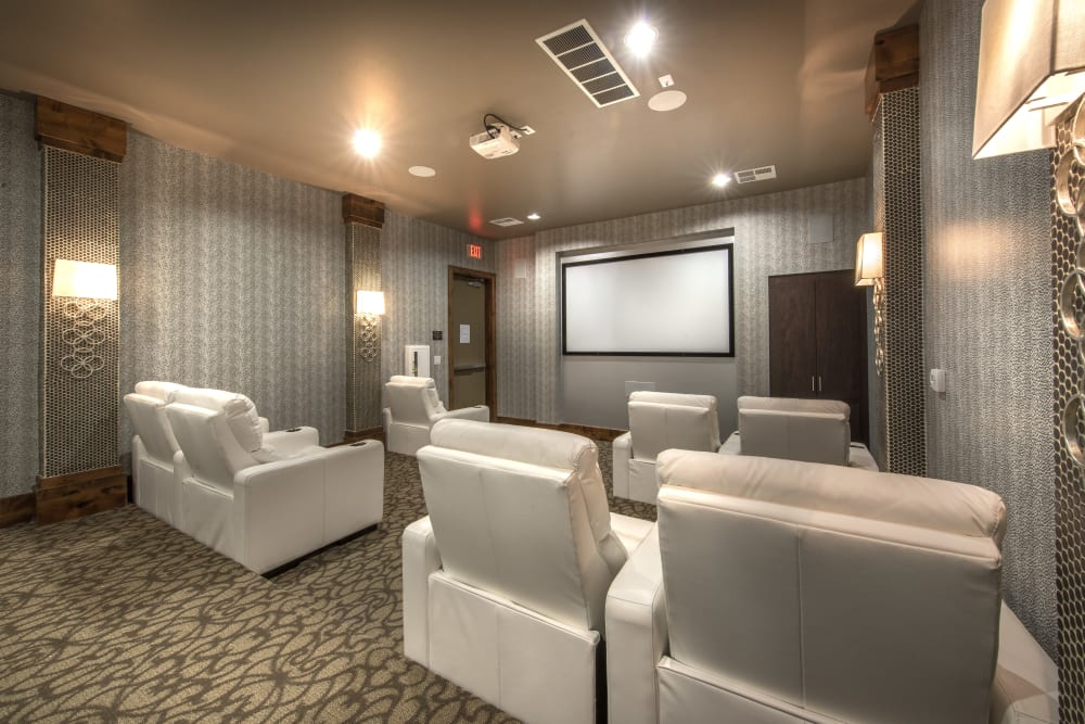Private theater at Olympus Encantada in Albuquerque, New Mexico
