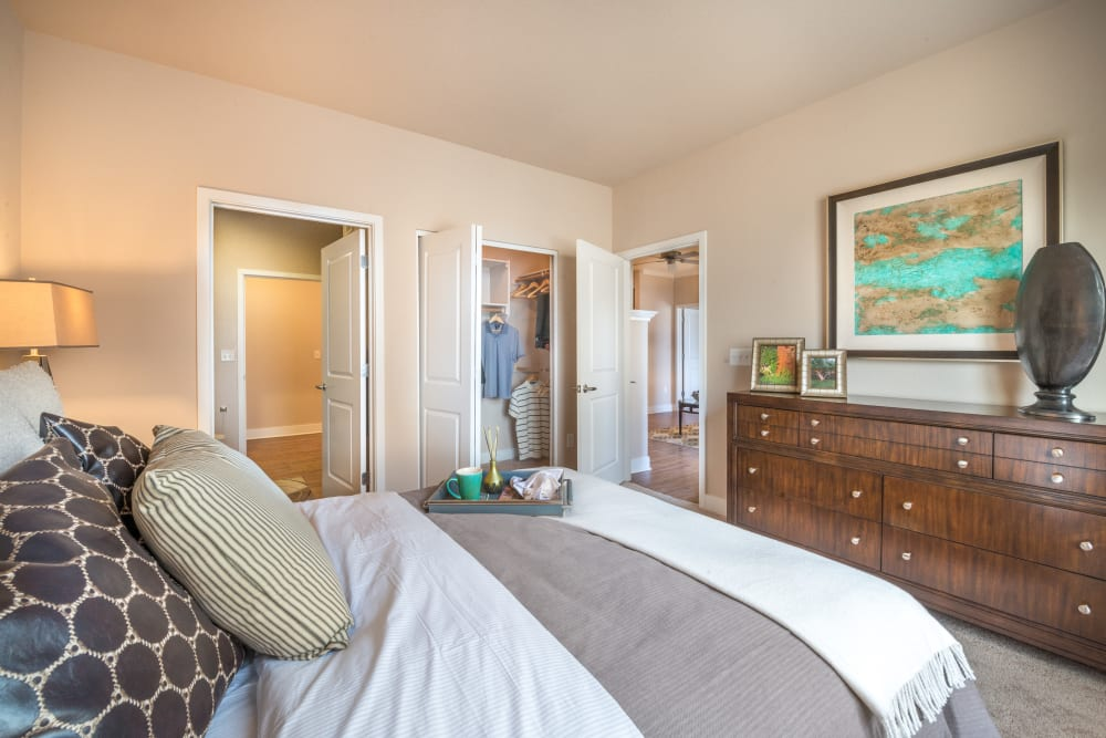 Large master bedroom at Olympus Encantada in Albuquerque, New Mexico