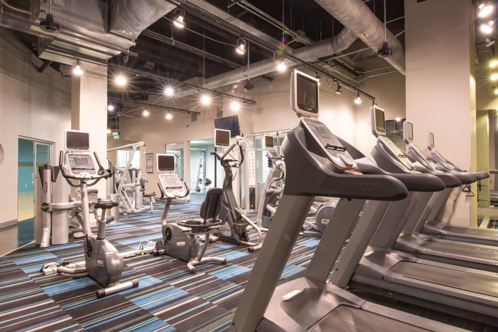 Fitness center at Mosaic Dallas in Dallas, Texas