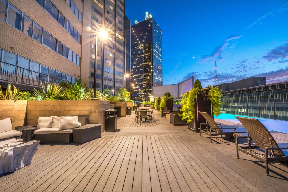 Pool patio at Mosaic Dallas in Dallas, Texas