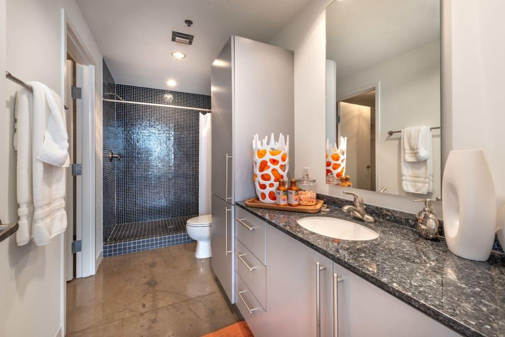Large bathroom at Mosaic Dallas in Dallas, Texas