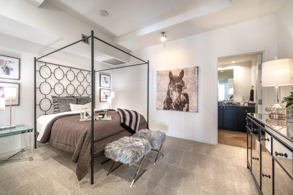 Spacious bedroom at Mosaic Dallas in Dallas, Texas