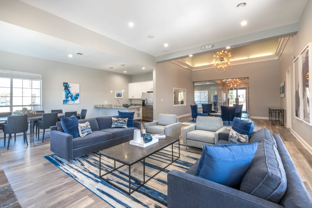 Ample room in the clubhouse to relax with your friends and neighbors at Olympus Stone Glen in Keller, Texas