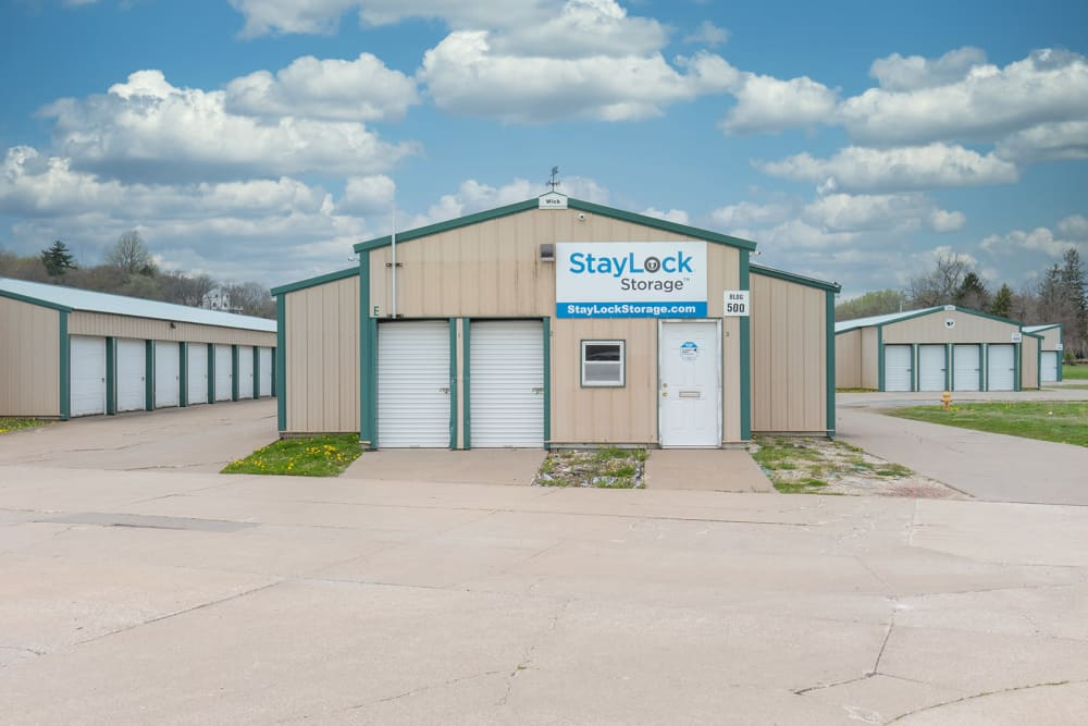 End view of a storage building at StayLock Storage in Bettendorf, Iowa