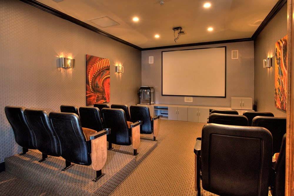In-house theater at The Vintage at South Meadows Condominium Rentals in Reno, Nevada