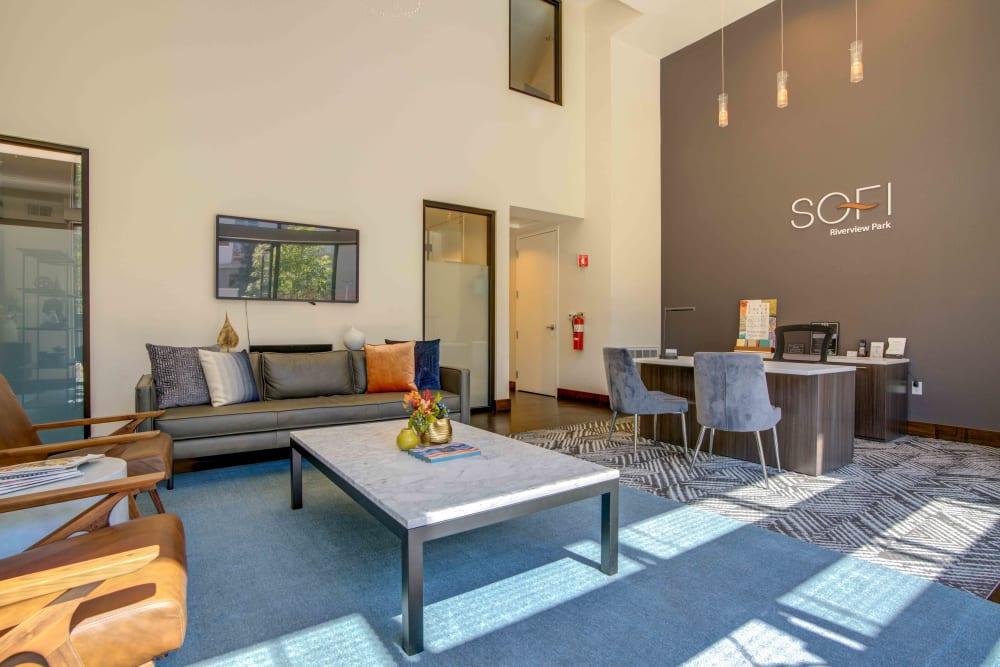 Leasing office at Sofi Riverview Park in San Jose, California