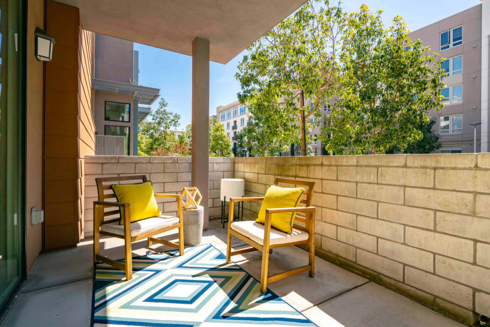 Private patio at Sofi Riverview Park in San Jose, California