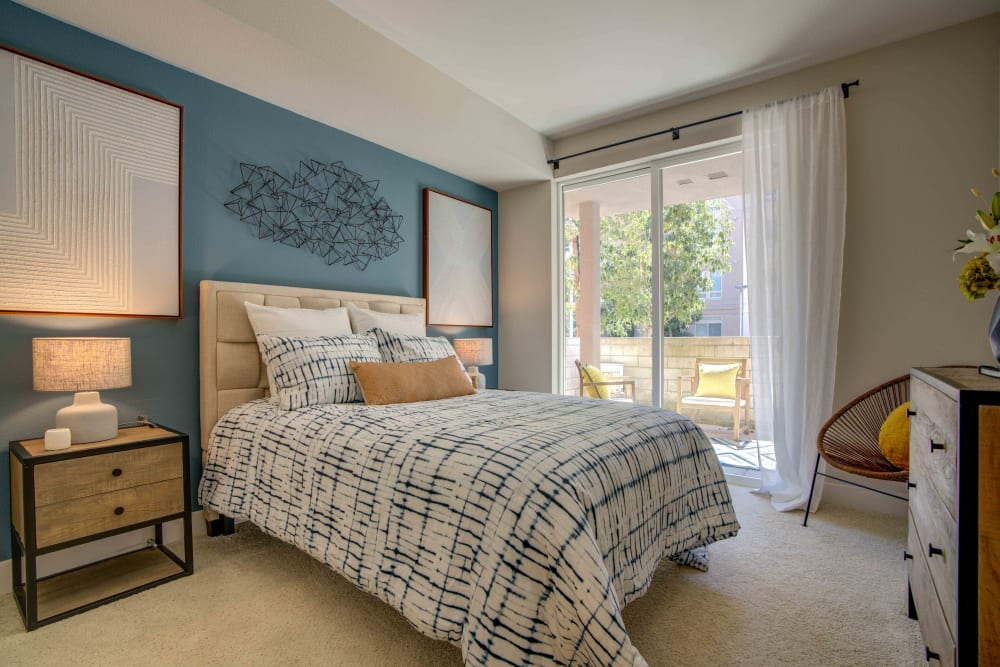 Bedroom at Sofi Riverview Park in San Jose, California