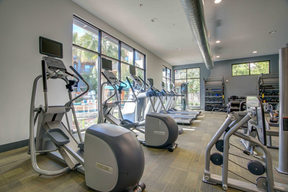 Fitness center at Sofi Riverview Park