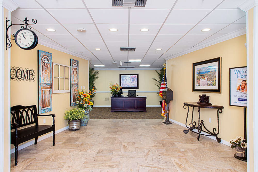 Office entryway at Grand Villa of Lakeland in Florida