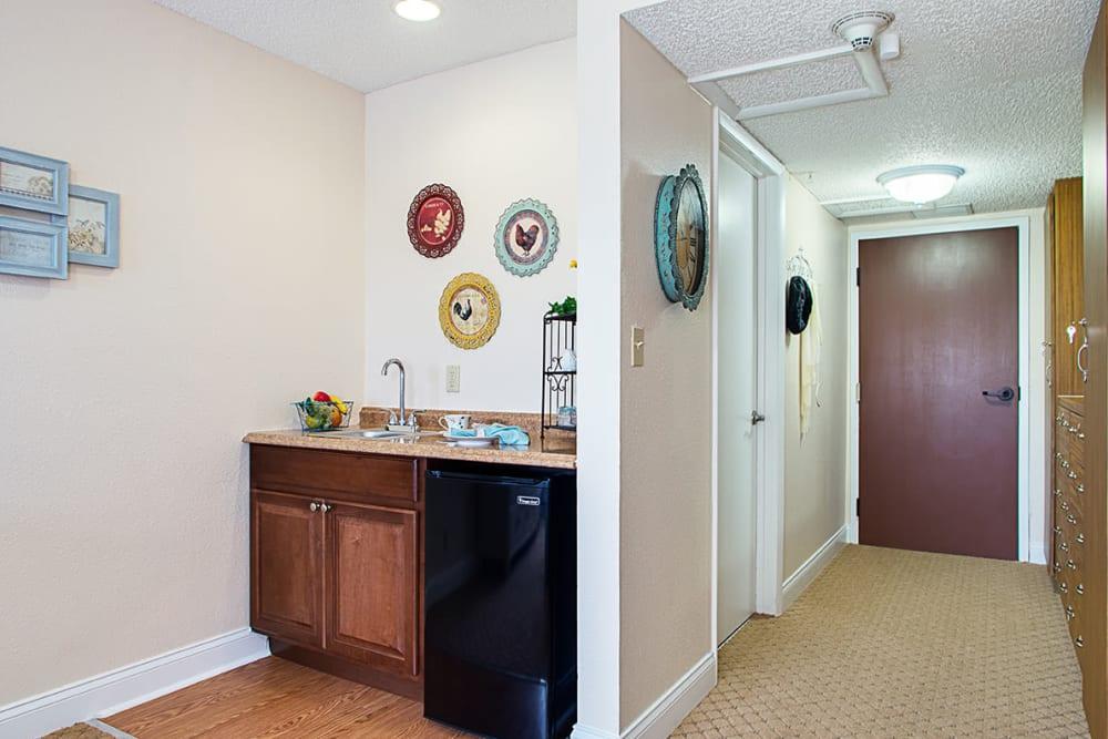 Kitchen and hallway at Grand Villa of Lakeland in Florida