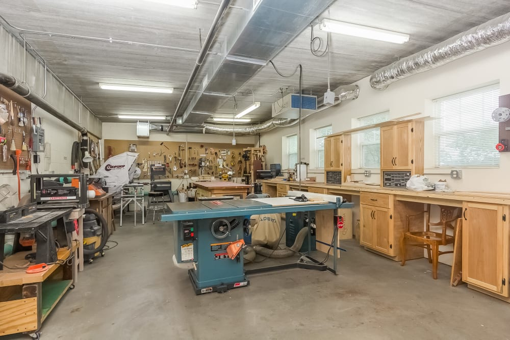 The workshop at Applewood Pointe of New Brighton in New Brighton, Minnesota.