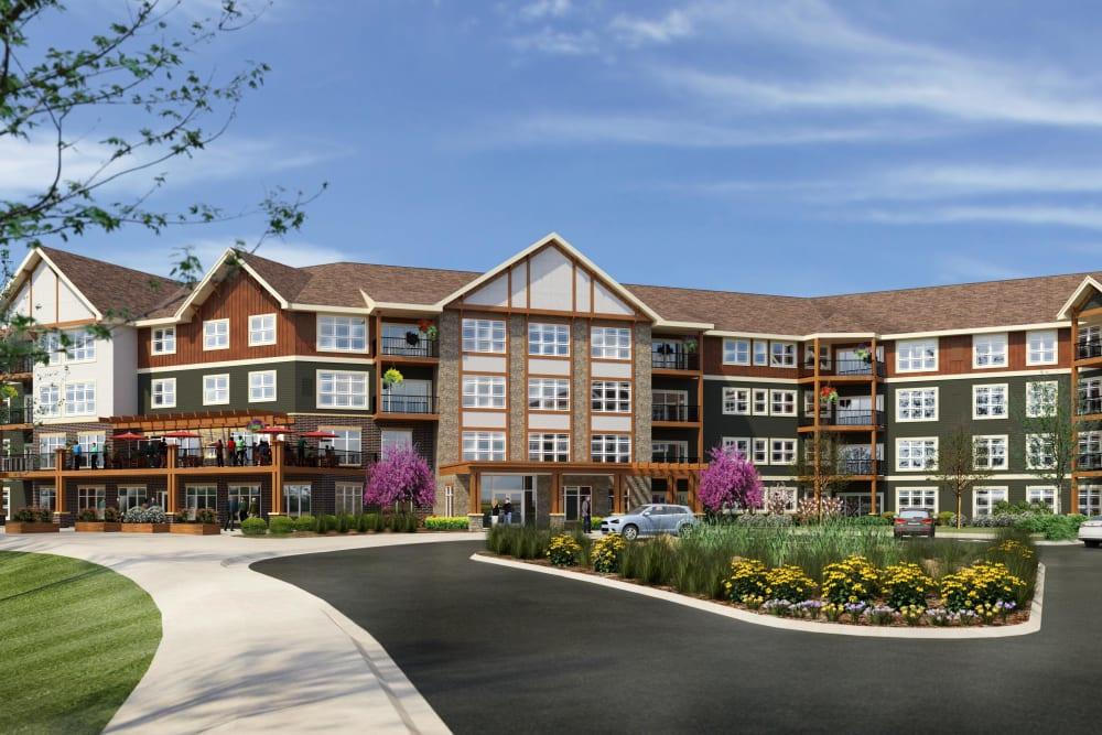 Rendering of main building at Applewood Pointe Lake Elmo/Woodbury in Lake Elmo, Minnesota.