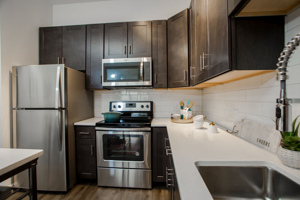 Stainless steel appliances at The Mark Parsippany in Parsippany, New Jersey