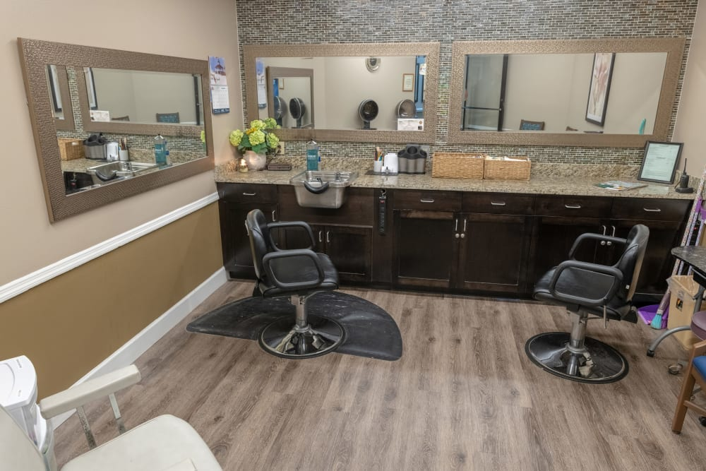 The salon at Royal Palm Senior Living in Port Charlotte, Florida