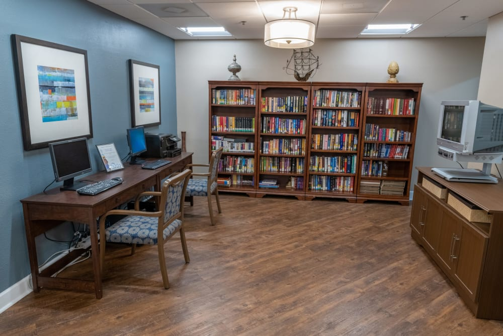 Library at Royal Palm in Port Charlotte, Florida.
