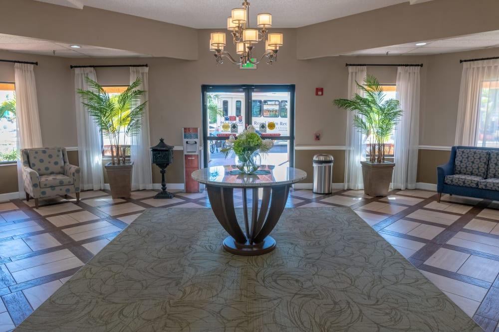Lobby at Royal Palm in Port Charlotte, Florida.