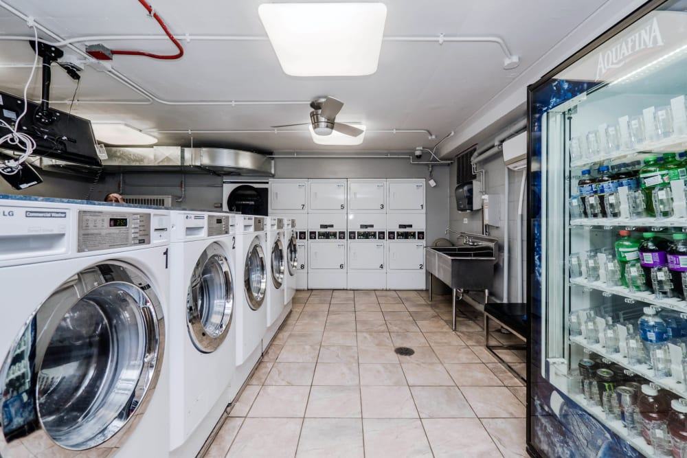 Laundry facility at Prairie Shores in Chicago, Illinois