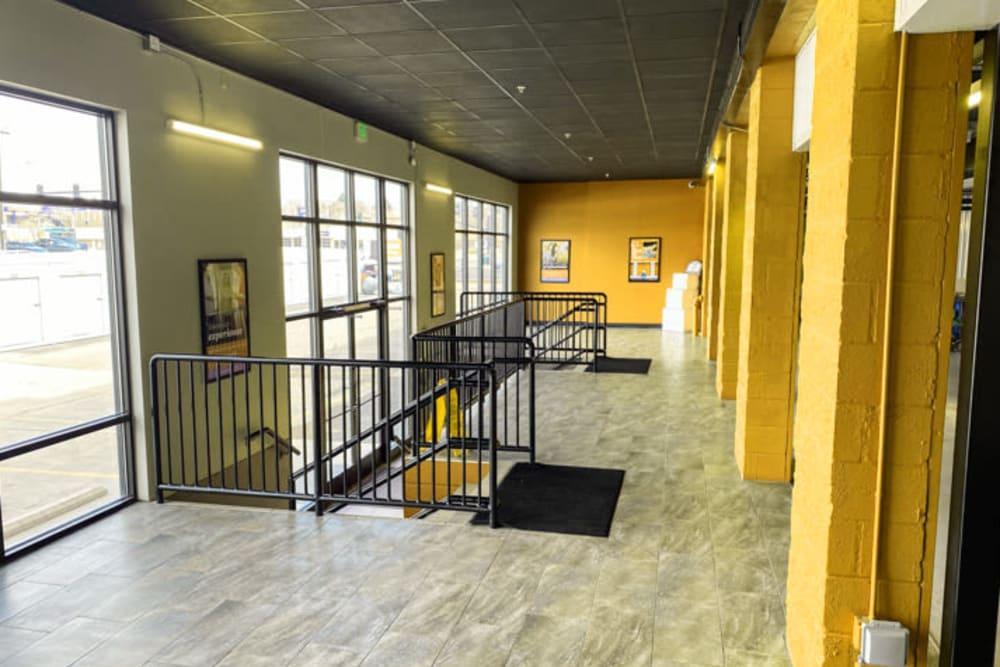 Wide interior hallways at Storage 365 in Colorado Springs, Colorado