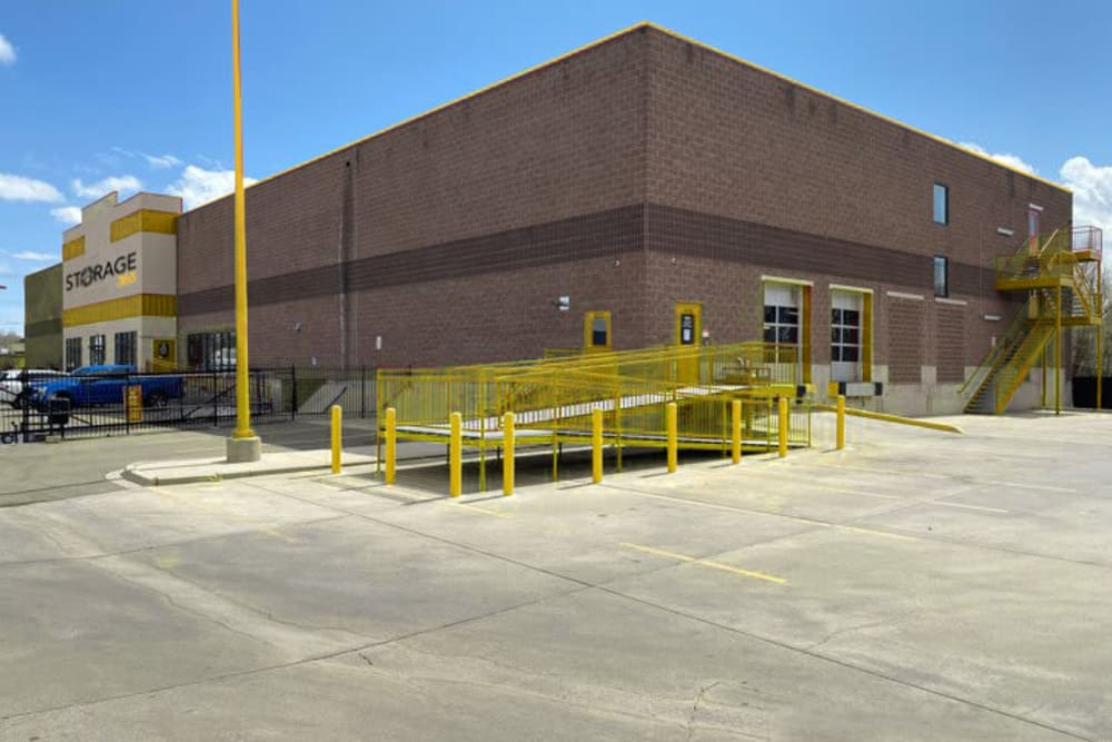 The wide driveways and loading docks at Storage 365 in Colorado Springs, Colorado