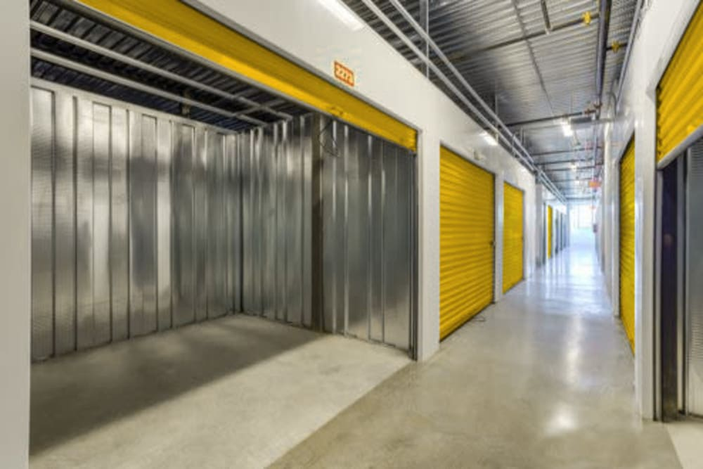 Large, interior climate controlled storage unit at Storage 365 in Garland, Texas