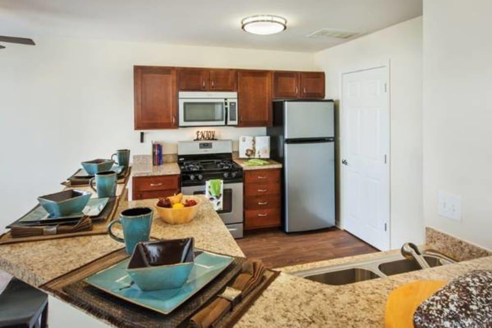 Kitchen at Apartments in Aurora, Illinois