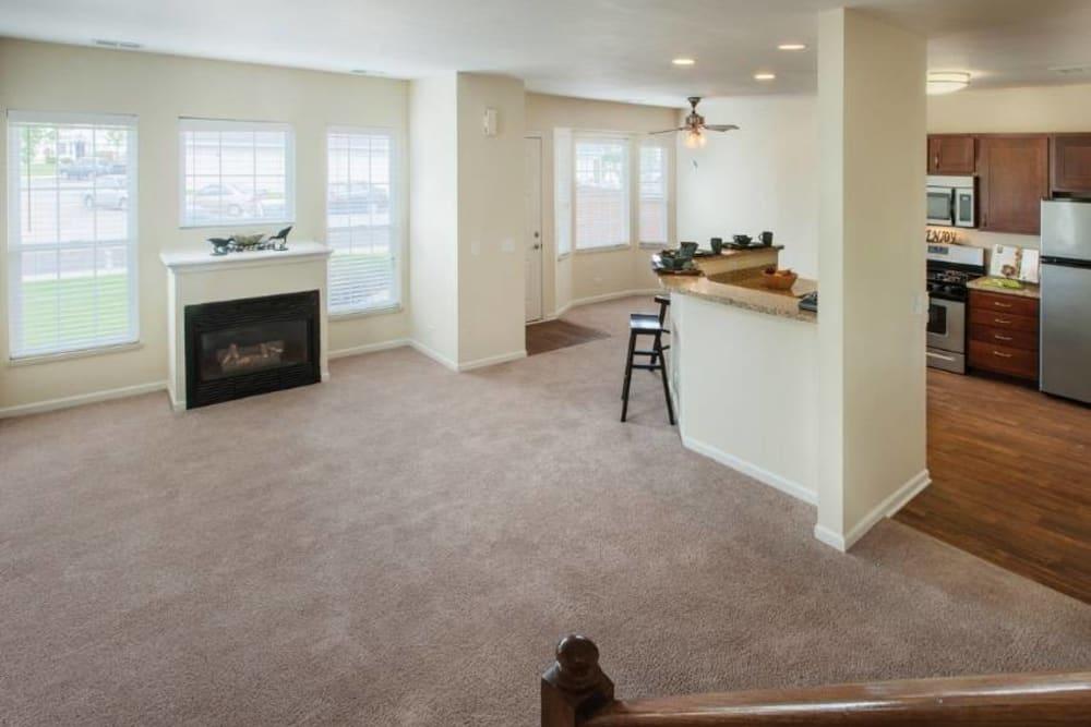 Living Room at Apartments in Aurora, Illinois