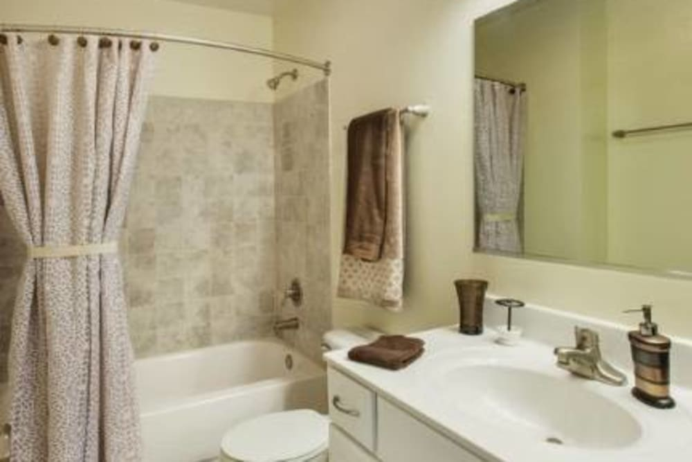 Bathroom at Lakeview Townhomes at Fox Valley in Aurora, Illinois