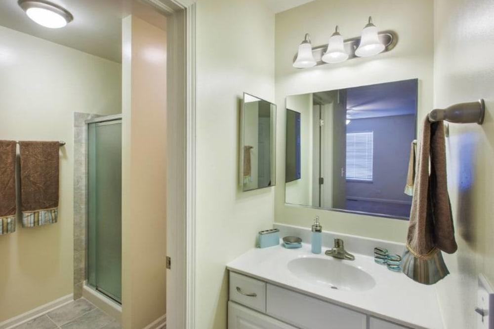Bathroom at Apartments in Aurora, Illinois