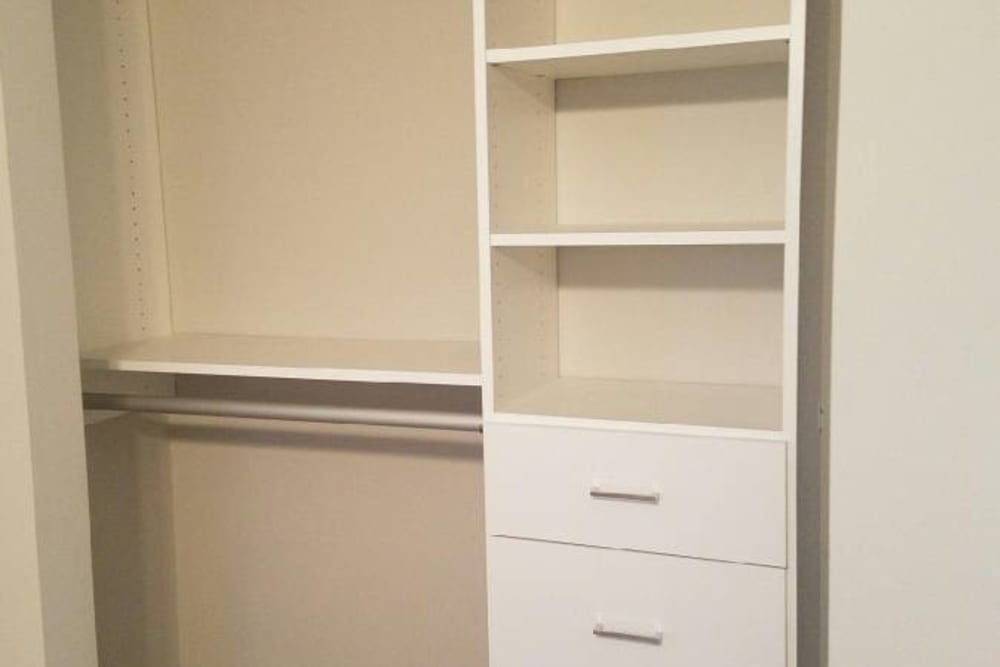 Closet at Lakeview Townhomes in Aurora, Illinois
