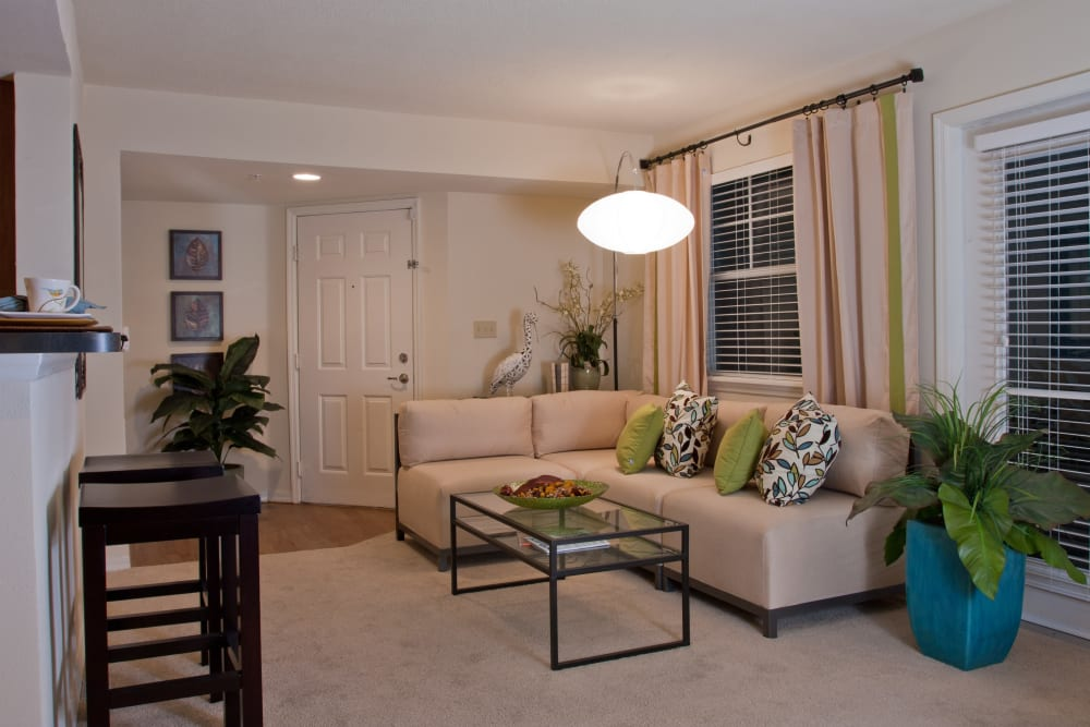 Plush carpeting in a model home's living area at Abaco Key in Orlando, Florida