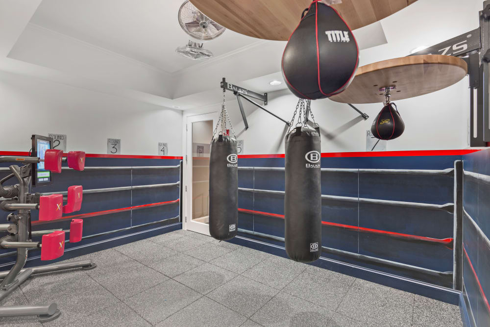 Boxing room at Bradlee Danvers in Danvers, Massachusetts