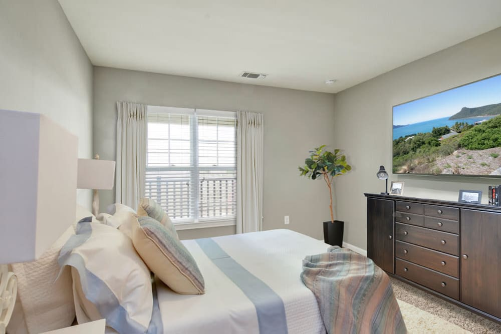 Spacious bright bedroom at Bradlee Danvers in Danvers, Massachusetts