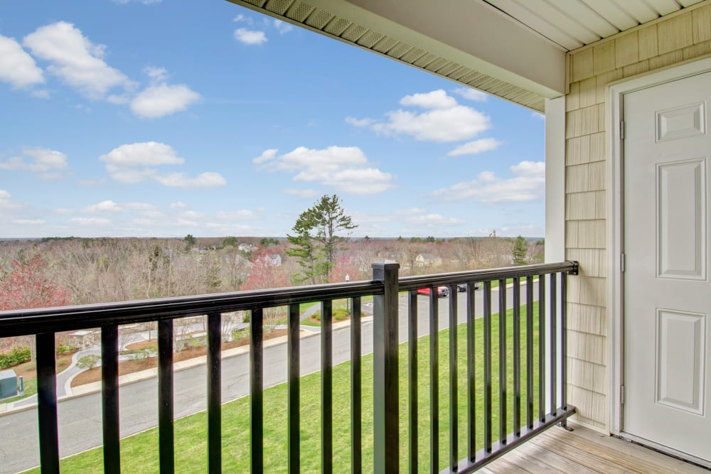 Private balcony at Bradlee Danvers in Danvers, Massachusetts