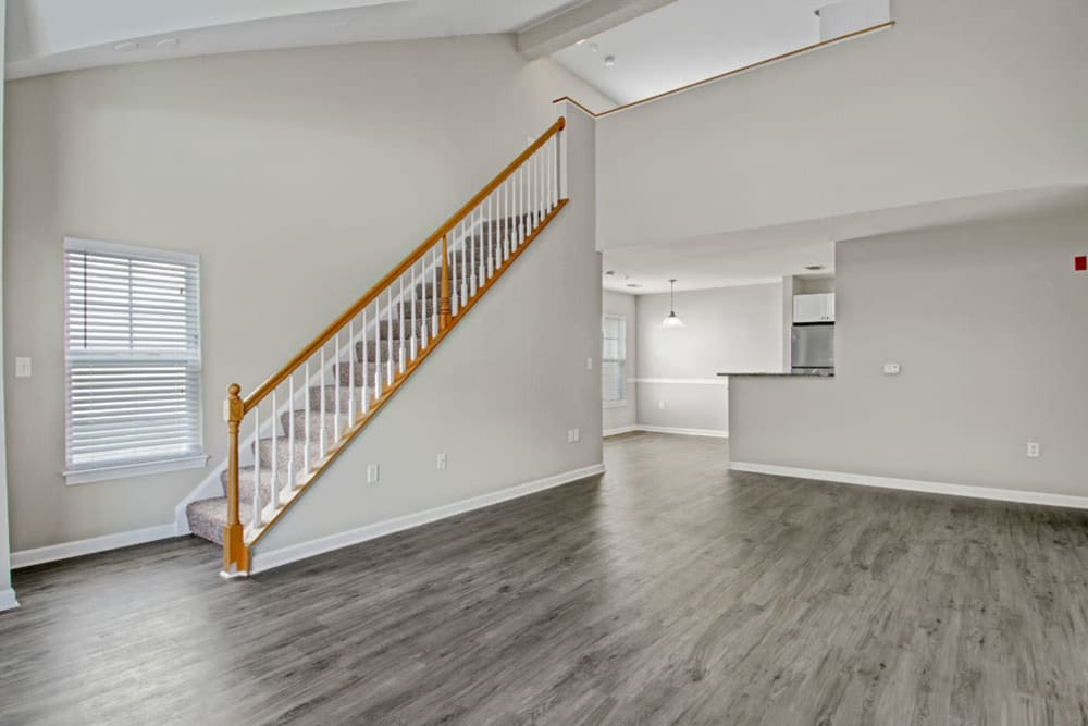 Wood style flooring at Bradlee Danvers in Danvers, Massachusetts